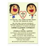 Marry My Best Friend People Cartoon 13 Cm X 18 Cm Invitation Card