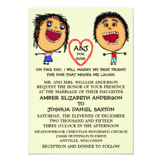 Marry My Best Friend People Cartoon Card