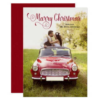 Marry Newlywed Christmas Card