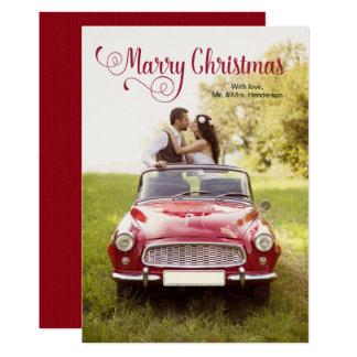 Marry Newlywed Christmas Card 13 Cm X 18 Cm Invitation Card