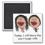Marrying My Best Friend Square Magnet