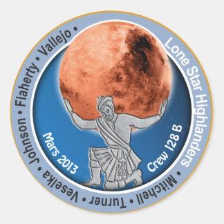 Mars 101 Crew 128B Classic Round Sticker
