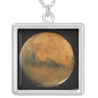 Mars 2 silver plated necklace