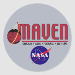 Mars Atmosphere and Volatile EvolutioN (MAVEN) Round Stickers