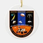 Mars Curioisty EDL NASA Social ornament