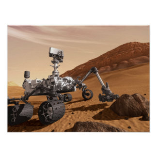 Mars Curiosity Rover Poster