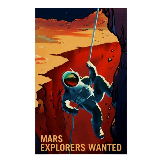 Mars Explorers Wanted - Recruitment Poster