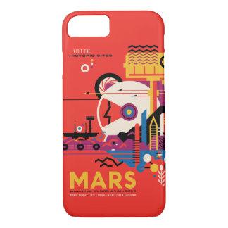 Mars Futuristic Space Travel Illustration iPhone 7 Case