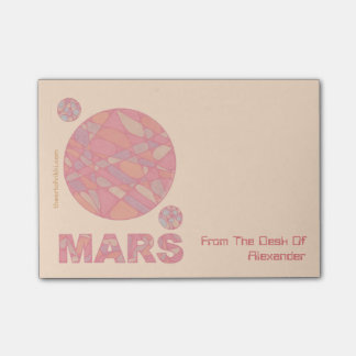 Mars Geek The Red Planet Personalized Post-it® Post-it® Notes