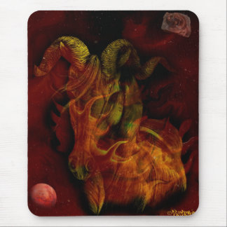 Mars in Aries Mouse Mat