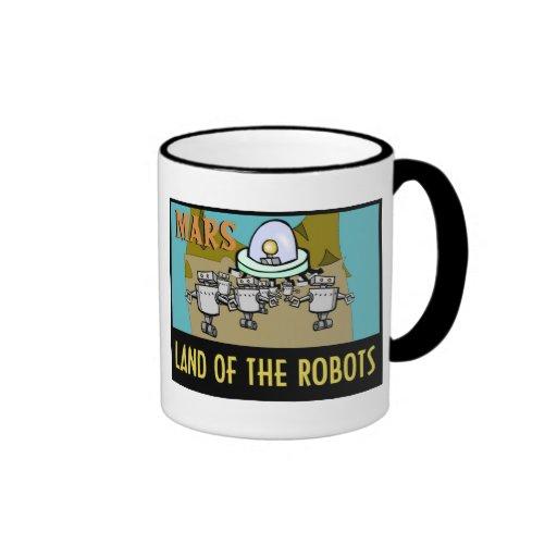 MARS - LAND OF THE ROBOTS RINGER MUG