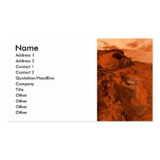 Mars landscape business card templates