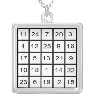 Mars Magic Square Necklace