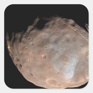 Mars moon Phobos 2 Square Sticker
