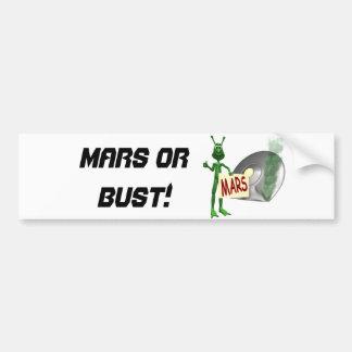 Mars or Bust! Bumper Sticker