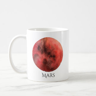 Mars Planet Watercolor Mug