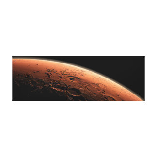 MARS RED PLANET IN THE UNIVERSE, MARS CANVAS STRETCHED CANVAS PRINT