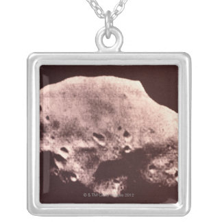 Mars Rock Silver Plated Necklace
