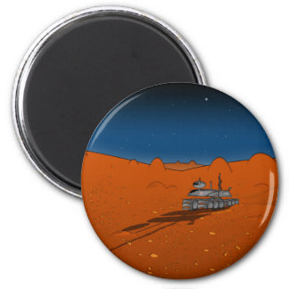 mars rover 6 cm round magnet
