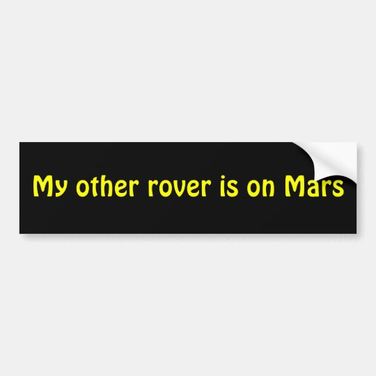 Mars Rover Bumper Sticker