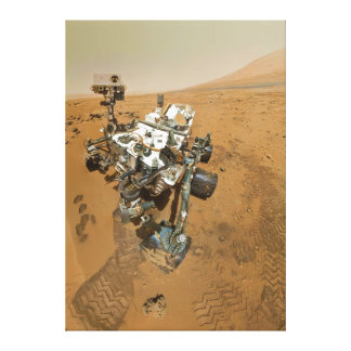Mars Rover Curiosity at Rocknest Gallery Wrap Canvas
