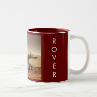 Mars Rover, MARS, ROVER Two-Tone Coffee Mug