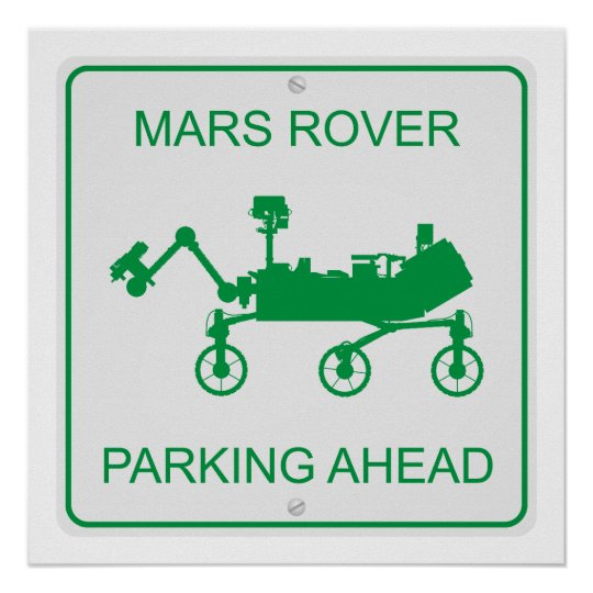 Mars Rover Parking Poster