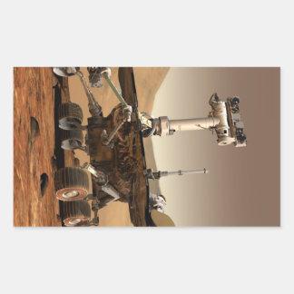 Mars Rover Rectangular Sticker