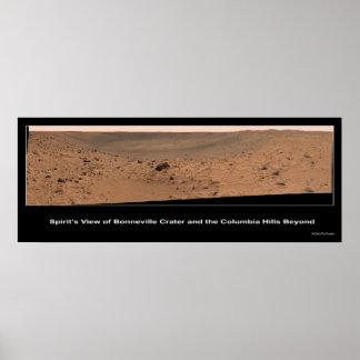Mars Rover Spirit s Destination Columbia Hills Posters