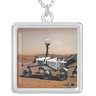 Mars Science Laboratory 2 Silver Plated Necklace