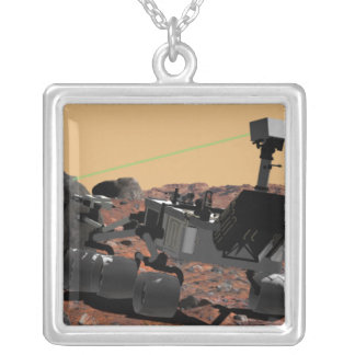Mars Science Laboratory 3 Silver Plated Necklace