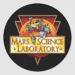 Mars Science Laboratory Round Sticker