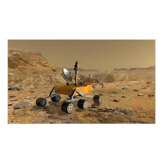 Mars Science Laboratory travels near a canyon Photograph