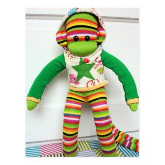 Mars Sock Monkey Post Card - Andre