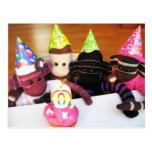 Mars Sock Monkey Post Card - Birthday