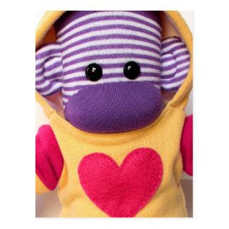 Mars Sock Monkey Post Card - Lauren