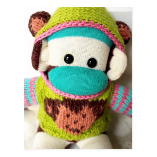 Mars Sock Monkey Post Card - Mochi