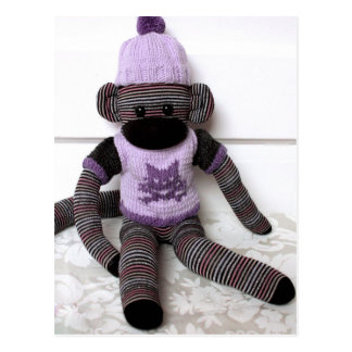 Mars Sock Monkey Post Card - Vivi