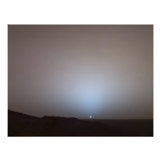 Mars Sunset from the Spirit at Gusev Crater Print