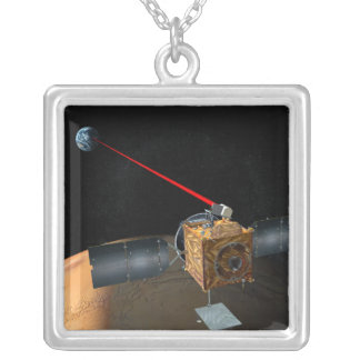 Mars Telecommunications Orbiter Silver Plated Necklace
