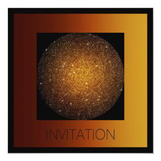 Mars Universe Planet Golden Glam Vip 13 Cm X 13 Cm Square Invitation Card