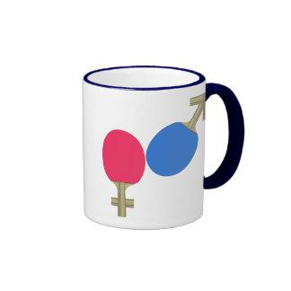 Mars Venus Ping Pong Coffee Mug