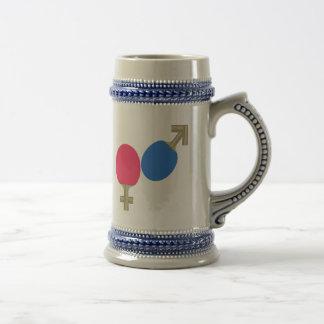 Mars Venus Ping Pong Mugs