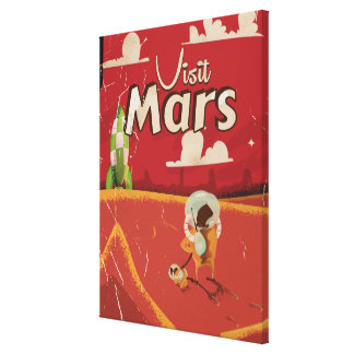 Mars Vintage Travel Poster Canvas Print