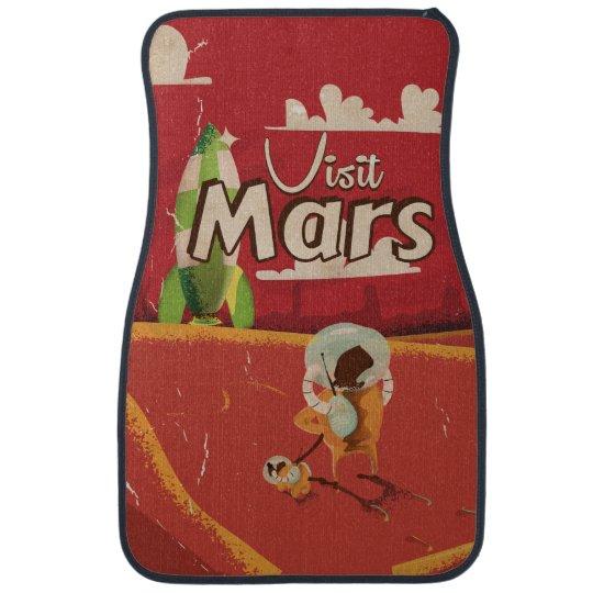 Mars Vintage Travel Poster Car Mat