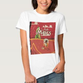 Mars Vintage Travel Poster Shirts