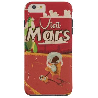 Mars Vintage Travel Poster Tough iPhone 6 Plus Case