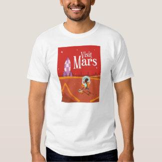 Mars Vintage Travel Poster Tshirt