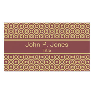 Marsala and Custard Nested Octagon Business Card