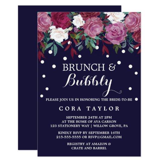 Marsala & Burgundy Floral on Navy Brunch &